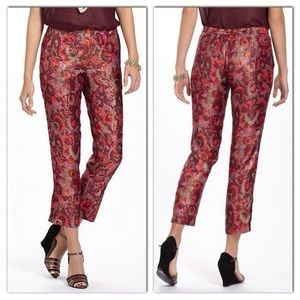 •Anthropologie• Elevenses Paisley Brocade Pants